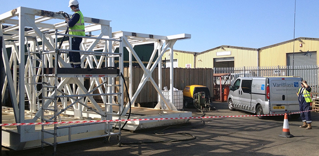 Variblast marine and offshore cleaning services - WET blasting