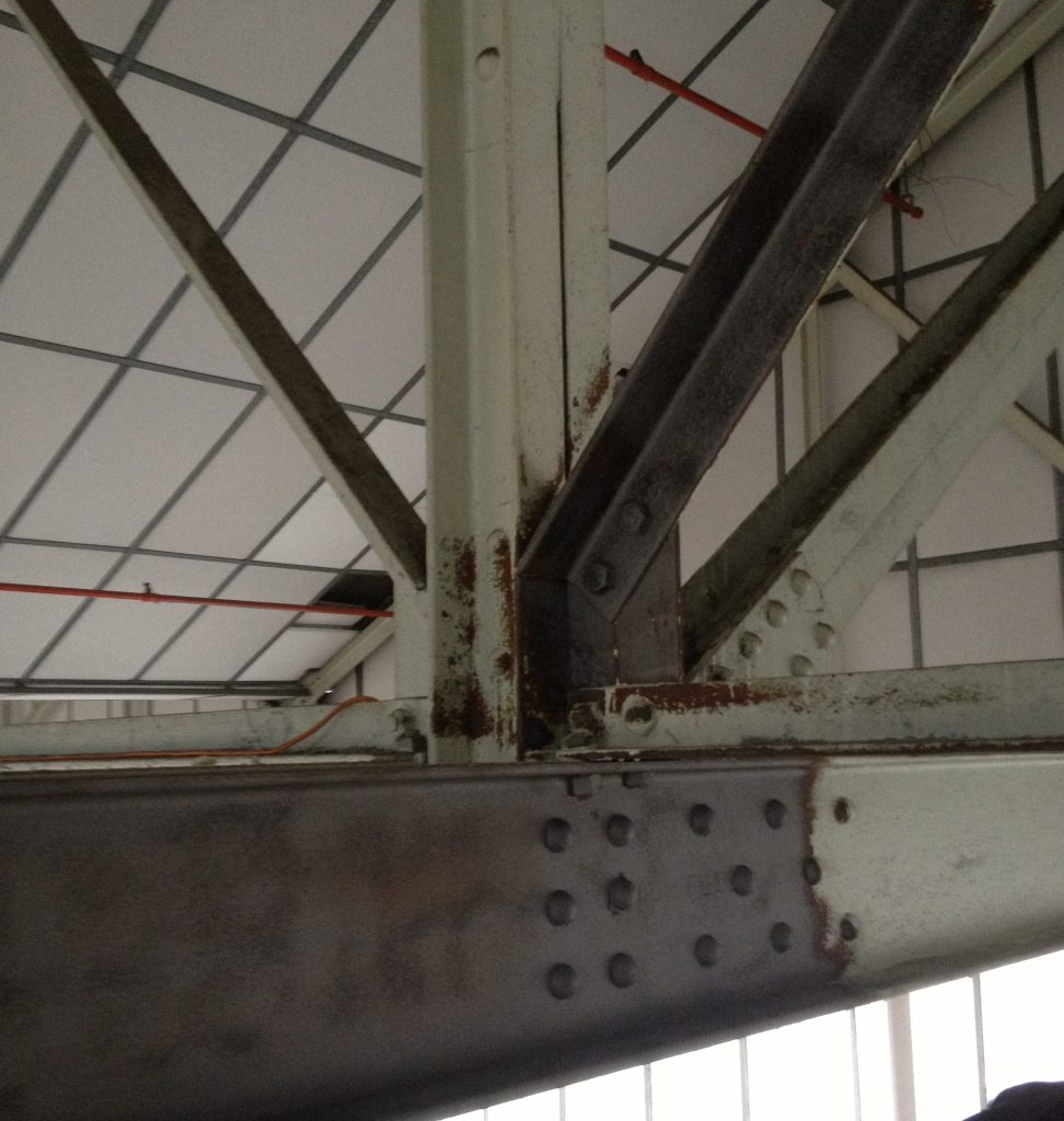 RAF Mildenhall Hanger roof stucture